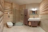 Аренда коттеджа из  сруба посуточно, под Киевом ! - ванная комната