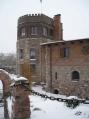 Аренда коттеджа, замка посуточно на берегу озера Подгорцы!  - замок зимой