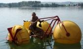 Аренда коттеджа, замка посуточно на берегу озера Подгорцы!  - водный велосипед