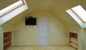 Аренда дома с бассейном посуточно Софиевская Борщаговка - телевизор в спальне