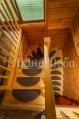 Аренда сруба посуточно с баней, в Хотяновке!  - лестница